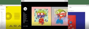 Graphic design portfolios