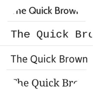 Select custom fonts