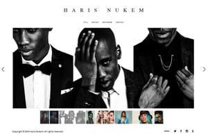 Example portfolio website by photographer & videographer Haris Nukem