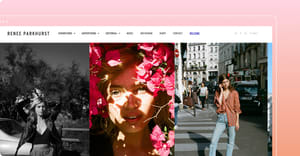 example of a photography portfolio website built on Format