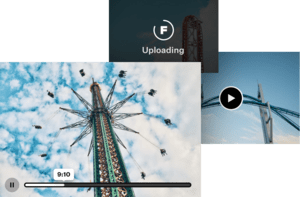 Uploading videos of amusement park rides