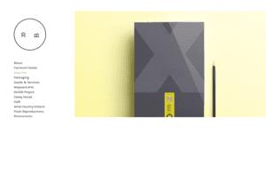 Example portfolio site on desktop by illustrator Ryan Booth