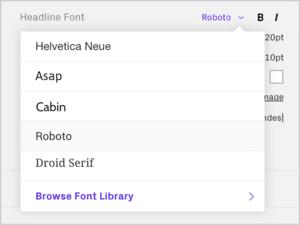 Design Portfolio custom fonts