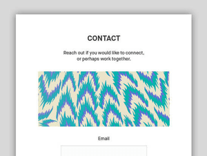 Illustrator Portfolio contact forms