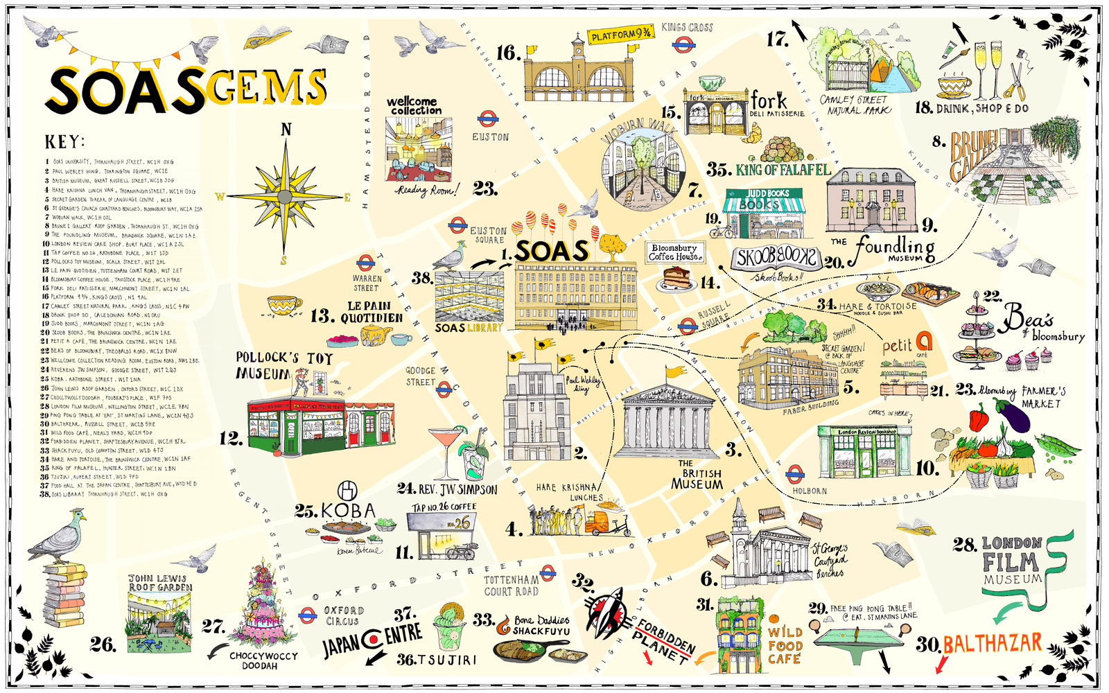 Bloomsbury illustrated map by Katherine Kannon
