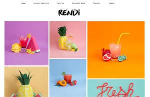 Example portfolio websites on desktop