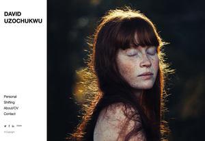 Example portfolio website by photographer David Uzochukwu
