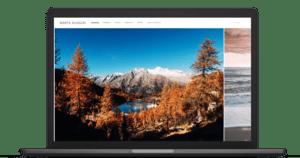 Create landscape photography portfolio
