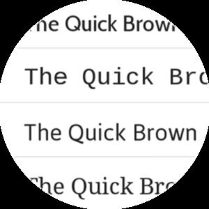 Select custom fonts