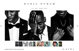Example portfolio website by photographer & videographer Haris Nukem