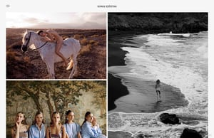 Example portfolio website by photographer Sonia Szostak