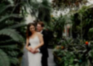 blurred image of a wedding couple