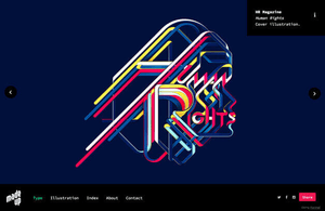 Example portfolio website by studio Made Up