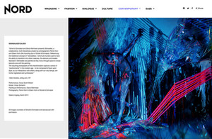 Example portfolio website by editorial publication Nord Magazine