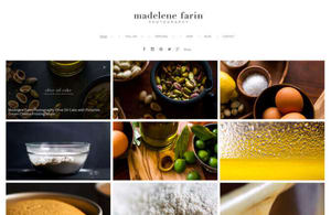Example portfolio website by photographer Madelin Farin