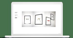 Create student art portfolio