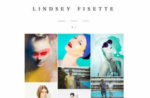 Example portfolio website by photographer Lindsey Fisette