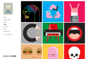 Example portfolio website by illustrator Paul Pateman