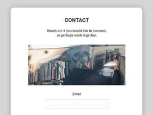 Artist Portfolio contact forms