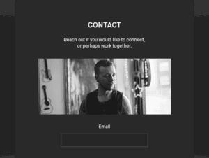 Photography Portfolio contact form
