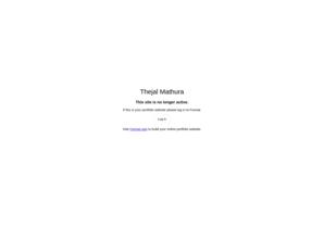 Thejal Mathura online portfolio